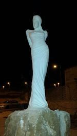 The Wise Woman of Tekoa statue before being smashed 3-10-2015