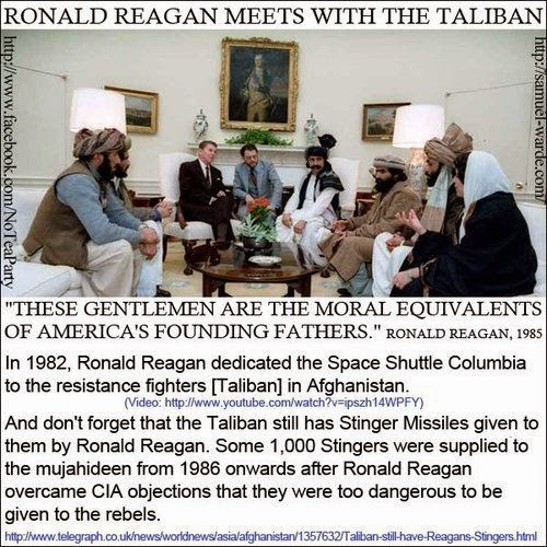 Image result for reagan taliban